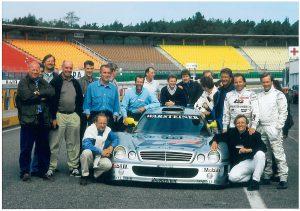 1998-Klaus-Ludwig-Carsten-Krome-Mercedes-Benz-CLK-GT1-Hockenheimring